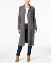 Styleandco. Style Co. Cable Knit Duster Cardigan Only At Macy's Steel Heather Grey