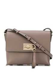 Salvatore Ferragamo Keyring Detail Shoulder Bag Neutrals