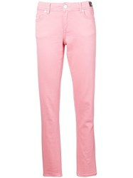 Versace Jeans Straight Leg Jeans Pink