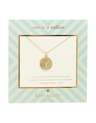 Kate Spade One In A Million Letter Y Pendant Necklace Gold
