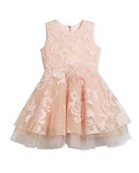 Zoe Embellished Tulle Swing Dress Pink Size 2 6X