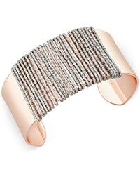 Thalia Sodi Two Tone Wire Wrapped Sculptural Cuff Bracelet Only At Macy's