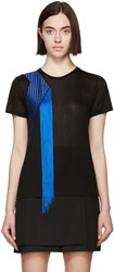 Christopher Kane Black Jersey Fringe T Shirt
