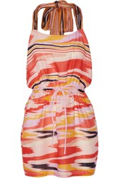 Missoni Printed Cotton Gauze Coverup Pink