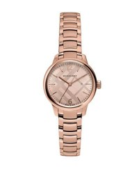 Burberry 32Mm Classic Rose Golden Stainless Steel Bracelet Watch Pink