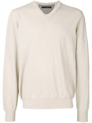 Jeckerson V Neck Sweater Nude And Neutrals