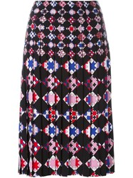 Emilio Pucci Geometric Print Pleated Skirt Black