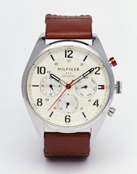 Tommy Hilfiger Chronograph Watch In Brown Brown