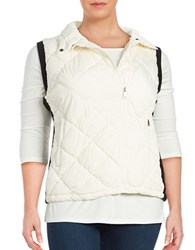 Marc New York Quilted Puffer Vest Ivory