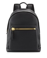 Tom Ford Buckley Zip Pocket Backpack Black