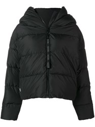 Bacon Hooded Puffer Jacket Black