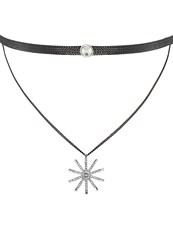 Sweet Deluxe Necklace Black Silvercoloured