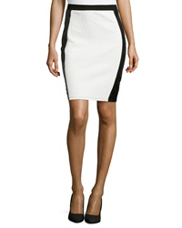 Romeo And Juliet Couture Quilted Knit Skirt Black White