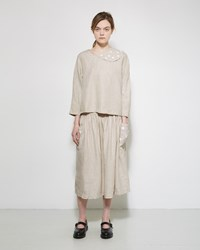 Comme Des Garcons Jupe By Jackie Linen Skirt Natural
