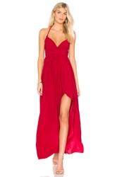 Misa Los Angeles Ever Maxi Dress Red