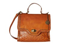 American West Hidalgo Top Handle Convertible Flap Bag Golden Tan Top Handle Handbags