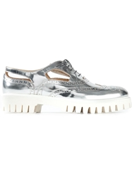 Alberto Guardiani Metallic Rubber Sole Brogues