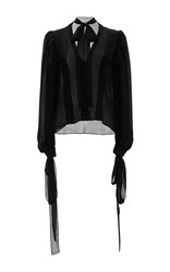Houghton Georgette Silk Blouse Black