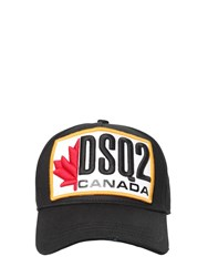 Dsquared Cotton Gabardine Baseball Hat Black