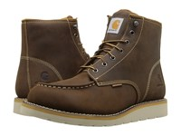 Carhartt 6 Waterproof Wedge Boot Brown Oil Tanned Leather Men's Lace Up Boots