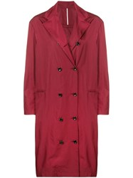 Joseph Double Breasted Trench Coat Red