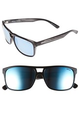 Revo Men's 'Holsby' 58Mm Polarized Sunglasses Black Woodgrain Blue Water Black Woodgrain Blue Water