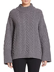 Aquilano Rimondi Cable Knit Wool Sweater Grey