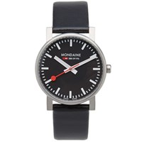 Mondaine Quartz Evo 35Mm Watch Black