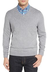 Nordstrom Men's Big And Tall V Neck Sweater Grey Opal Heather