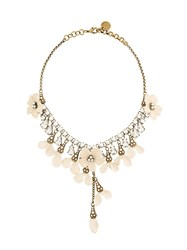 Ermanno Scervino Flower Petals Necklace Metallic