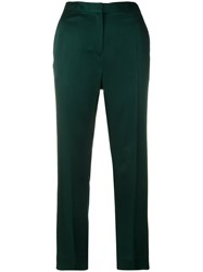 Haider Ackermann High Waisted Trousers Cotton Acrylic Viscose Green