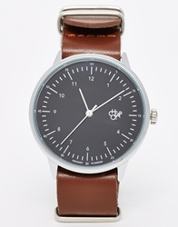 Cheapo Classic Leather Strap Watch Brown
