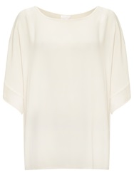 Ghost Enid Crepe Top Ivory