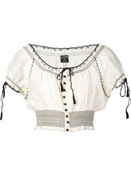 Jean Paul Gaultier Vintage Peasant Cropped Top