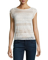 Joie Lelia Cap Sleeve Lace Top Women's
