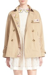 Women's Red Valentino Floral Embroidered Trench Coat
