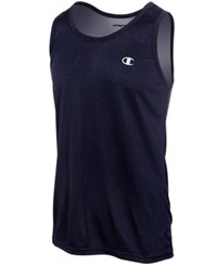 Champion Men's Vapor Heathered Tank Top Navy Heather