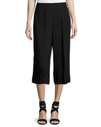 Cynthia Steffe Pleat Front Solid Culotte Pants Black