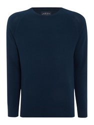 Criminal Keymoor Raglan Crew Neck Jumper Teal