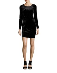 Design Lab Lord And Taylor Long Sleeve Velvet Bodycon Dress Black