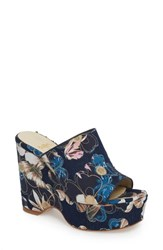 Butter Shoes 'S Skylar Floral Applique Platform Mule Embroidered Jean