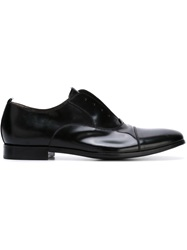 Rocco P. Laceless Oxford Shoes Black