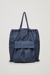 Cos Gathered Tote Bag Blue