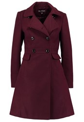 Miss Selfridge Trenchcoat Purple Bordeaux
