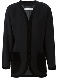 Jean Louis Scherrer Vintage Straight Fit Jacket Black