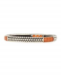 Lagos Maya Thin Carnelian Doublet Bangle Bracelet Medium