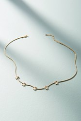 Anthropologie Ariel Stone Choker Necklace White