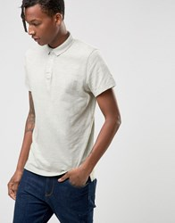 Selected Slim Fit Slub Jersey Polo Shirt With Overdye Cream