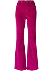 Current Elliott Flared Corduroy Trousers Pink And Purple