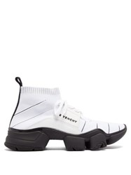 Givenchy Jaw High Top Sock Trainers White